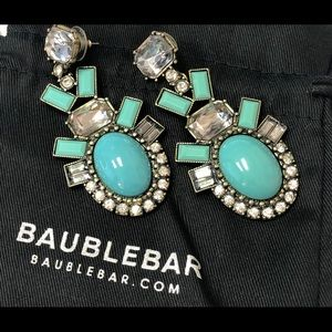 Baublebar large turquoise statement earrings